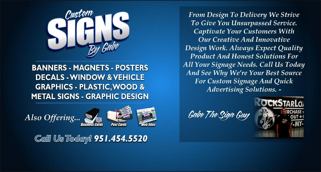 Signsbygabe Com 951 454 5520